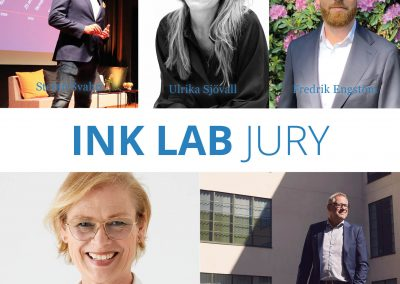 Presentation av juryn för pitchtävling INK LAB VT 2021
